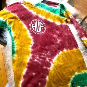 Fair condition Huf men's ls Tie-dye T in size M!!!